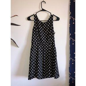 Black triangle dress